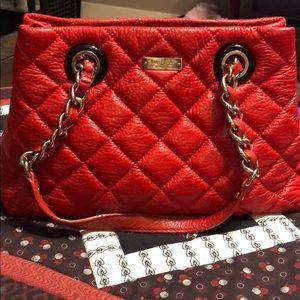Kate Spade orange/red colored handbag (vintage)